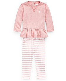 Baby Girls Terry Top and Legging Set