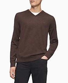 Merino V-Neck Logo Sweater