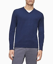 Merino V-Neck Logo Sweater