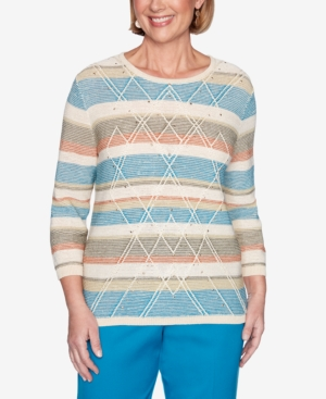 Women's Plus Size Colorado Springs Textured Biadere Sweater