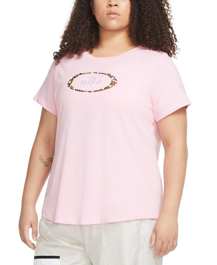 Nike - Plus Size Cotton Logo T-Shirt