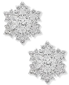 Gold-Tone Snowflake Button Earrings