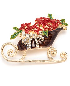 Multicolor Flower Sleigh Boxed Pin