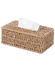 Natural Woven Seagrass Wicker Rectangular Tissue Box Cover Holder