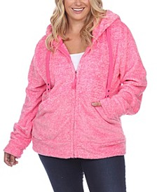 Women's Plus Size Sherpa Jacket