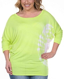 Women's Plus Size Tie Dye Tunic Top