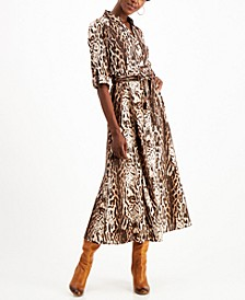INC Animal-Print Shirtdress, Created for Macy's