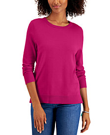 Style & Co Crewneck Sweater, Created for Macy's