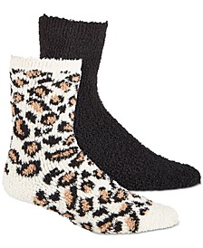 Women's 2-Pk. Animal-Print & Solid Super Soft Cozy Socks, Created for Macy's