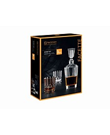 Nachtmann Facette Whiskey Decanter, 3 Piece Set