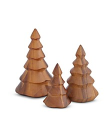 Deck The Halls Wooden Christmas Tree Set