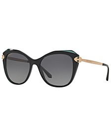 Women's Polarized Sunglasses, BV8187KB 55