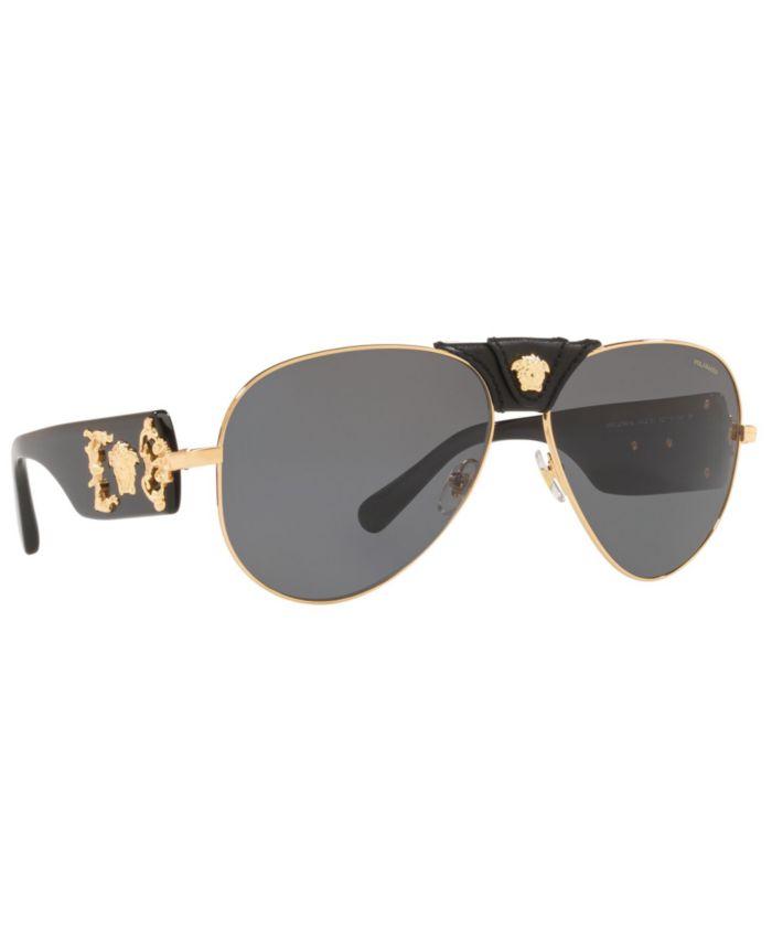 Versace Men's Polarized Sunglasses, VE2150Q 62 & Reviews - Sunglasses by Sunglass Hut - Men - Macy's