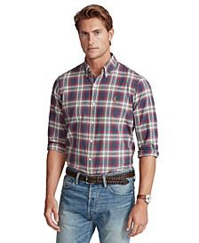 Men's Classic-Fit Plaid Oxford Shirt