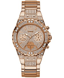 Unisex Swarovski Crystal & Rose Gold-Tone Stainless Steel Bracelet Watch 39mm