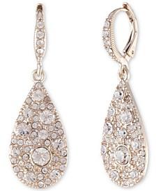 Scattered Crystal Teardrop Earrings