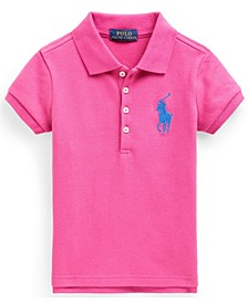 Toddler Girl Big Pony Stretch Mesh Polo