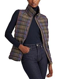Packable Plaid Vest