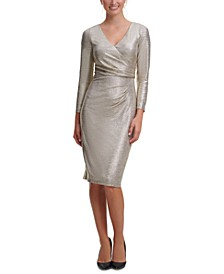 Side-Tuck Sheath Dress