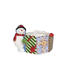 Holly Jolly Snowman Nut Dish 6In