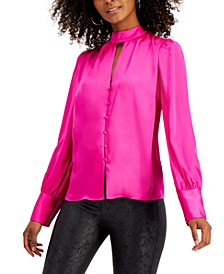 Keyhole-Cutout Blouse, Created for Macy's
