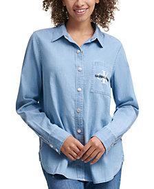 Calvin Klein Jeans Button-Front Top