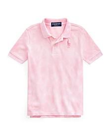 Little Boys Pink Pony Tie-Dye Polo Shirt