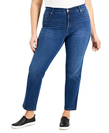 Plus Size Straight-Leg Jeans, Created for Macy's