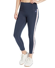 Women's Double Dry Striped High-Waist Leggings