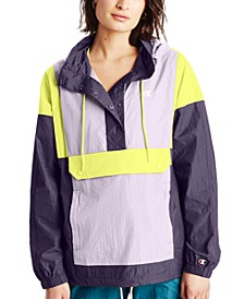 Women's Colorblocked Half-Snap Windbreaker