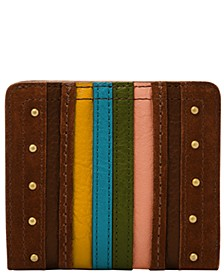 Women's Logan Small Striped Bifold Leather Wallet