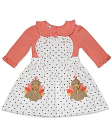 Blueberri Boulevard Baby Girls Dotted Turkey Playsuit