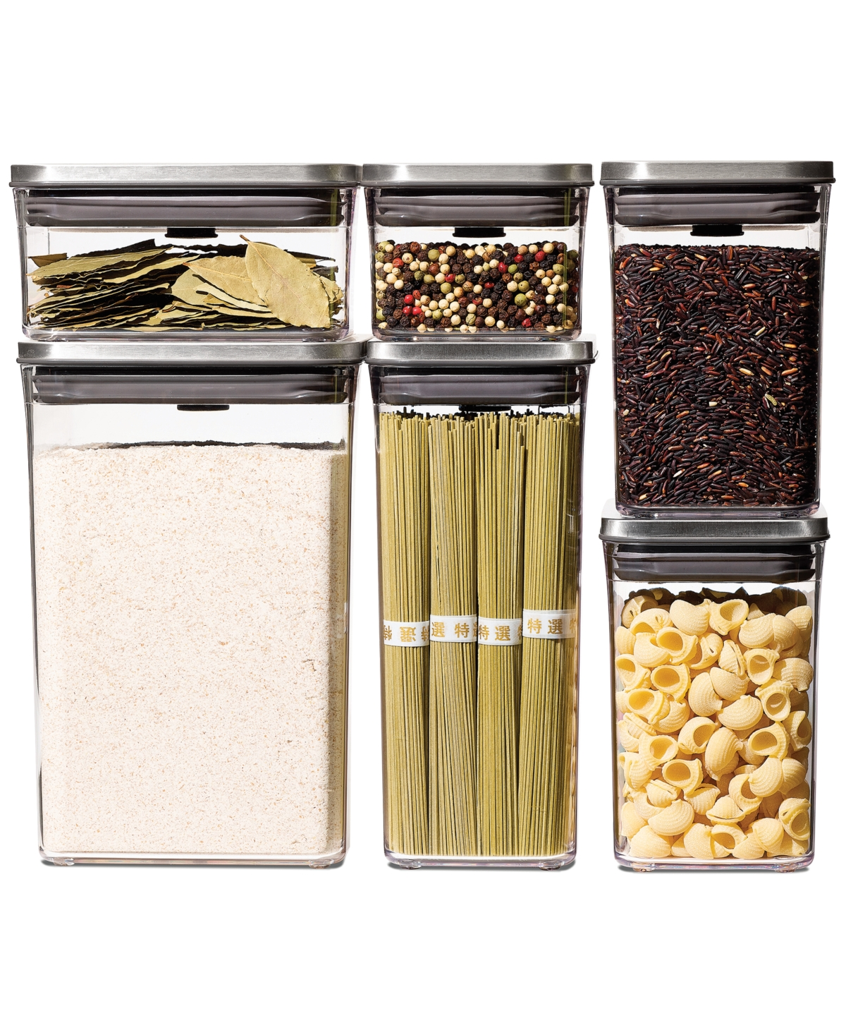 Oxo Steel Pop Food Storage Containers, Set of 6