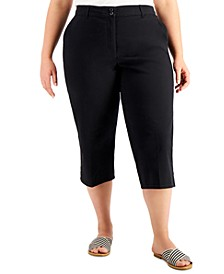 Plus Size Comfort-Waist Capri Pants, Created for Macy's
