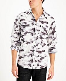 Men's INC International Concept Long Sleeve Cloud Utility Shirt