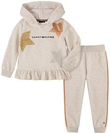 Baby Girls Hooded Fleece Pant Set