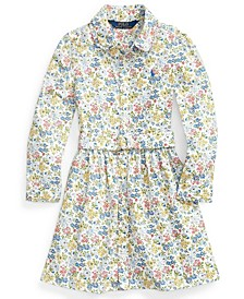 Calvin Klein Toddler Girl Floral Belted Shirtdress