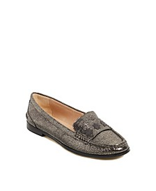 Women's Remy Crackled Metallic Loafer