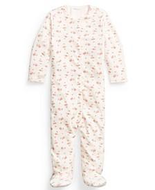 폴로 랄프로렌 여아용 커버올 우주복 Polo Ralph Lauren Baby Girls Floral Velour Coverall,Multi Floral