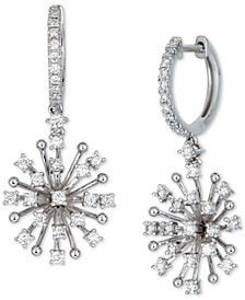 Diamond Starburst Dangle Drop Earrings (3/4 ct. t.w.) in 14k White Gold or 14k Gold