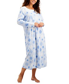Printed Fleece Long Nightgown, Created for Macy's