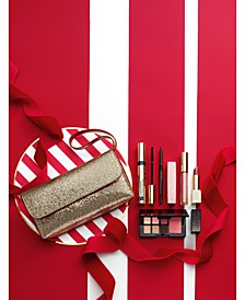 Limited Edition. Party Shimmer Makeup Collection. Includes 5 Full Sizes. $39.50 with any Estée Lauder purchase. A $212 Value!
