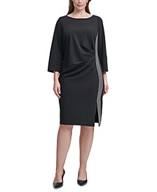 Plus Size Embellished-Side Sheath Dress