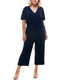 Trendy Plus Size Wide-Leg Jumpsuit