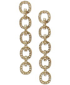 INC Gold-Tone Crystal Chain Link Linear Drop Earrings, Created for Macy's