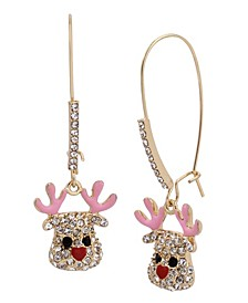 Reindeer Dangle Earrings