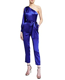 Liquid Satin One-Shoulder Jumpsuit