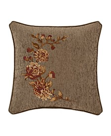 """Camellia 18"""" Square Embellished Decorative Throw Pillow"""