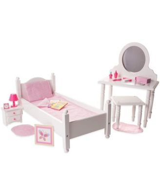 Playtime By Eimmie Doll Bed and Vanity Set