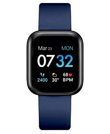 Men's Air 3 Navy Silicone Strap Touchscreen Smart Watch 44mm